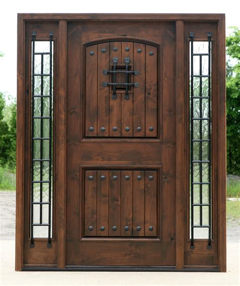 Wood Glass Front Door Wood Exterior Doors With Glass Marceladick