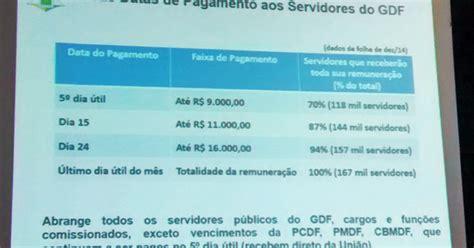 calendario de pagamento de servidor publico pernambuco em 2016 g1 gdf anuncia mudan 231 a no calend 225 rio de pagamento de