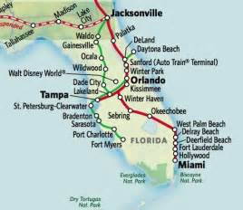 florida rail map amtrak route map east coast pictures to pin on