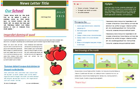 School Newsletter Templates Free by School Newsletter Templates For Classroom And Parents