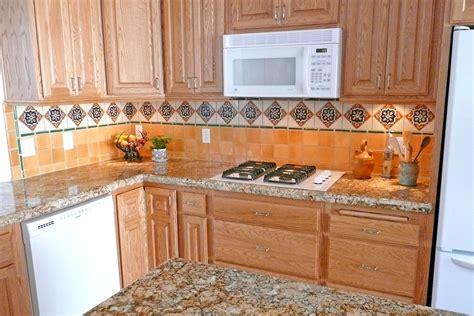 mexican tile kitchen backsplash kitchen with mexican tiles backsplash for the home