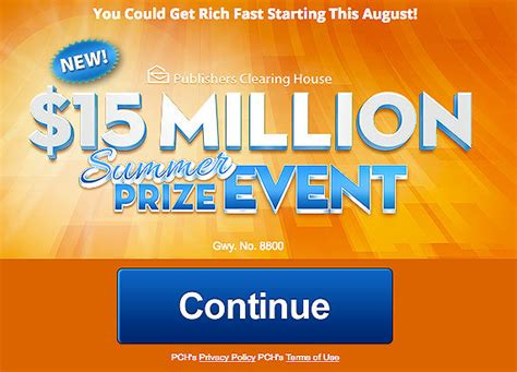 Nbc Publishers Clearing House Winner 2017 - pch 15 million summer prize event gwy no 8800