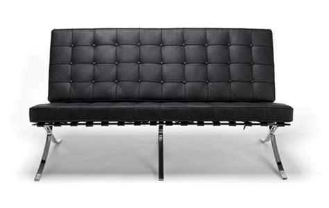 barcelona loveseat barcelona sofa by mies van der rohe designer sofas
