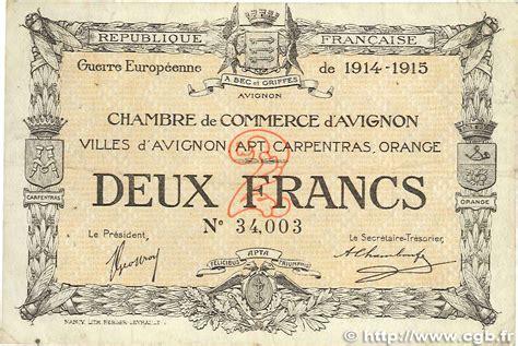 chambre commerce avignon 2 francs r 233 gionalisme et divers avignon 1915 jp 018