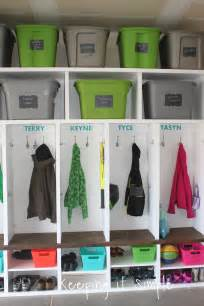 Garage Organization Mudroom Keeping It Simple Diy Garage Mudroom Lockers With Lots Of
