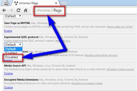 chrome quic fixed err quic protocol error chrome browser error code