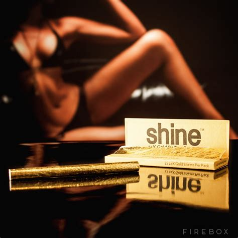 Shine Gold shine 24k gold rolling papers firebox shop for the