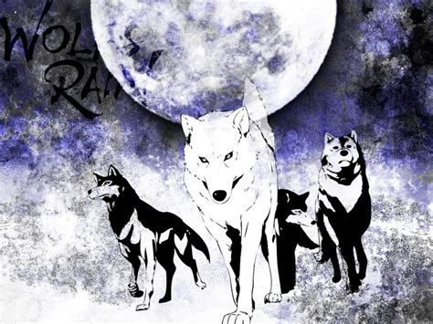 wolfs rain wallpaper wallpapersafari