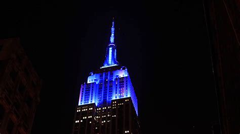 empire state building lights for the u s open opening
