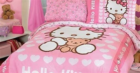 bed black decor girly hello kitty image 3534980 by hello kitty bedroom kaylee wants this now funnies