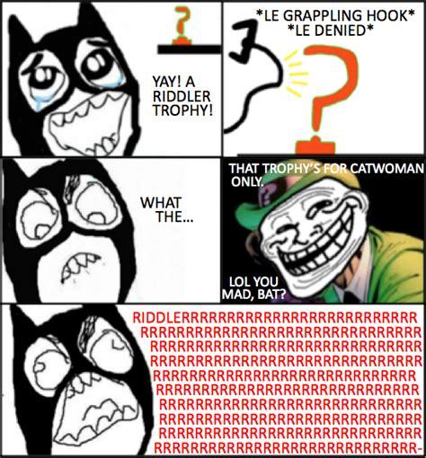 Riddler Meme - riddler s a troll by gymleader zeke on deviantart