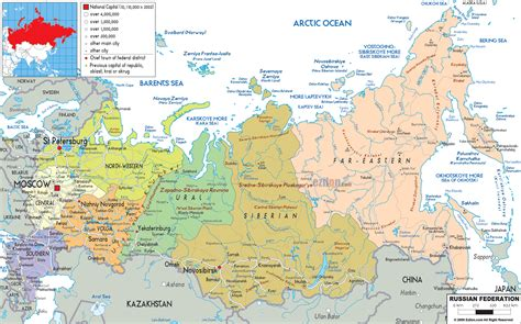 russia map showing cities maps of russia detailed map of russia with cities and