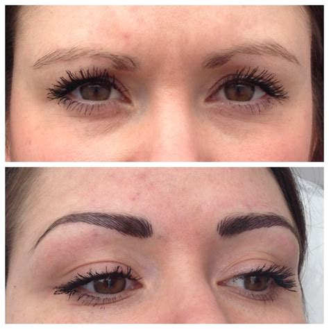 tattoo eyebrows after a week before and after hair stroke brows permanent make up