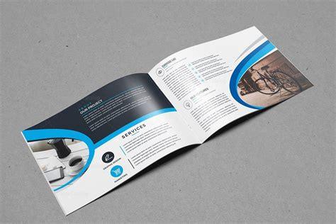 bifold brochure template landscape bi fold brochure template 000397