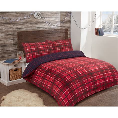 Stores That Sell Bedding Sets Check Brushed Cotton Duvet Set Single Bedding B M
