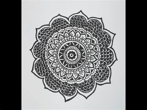 mandala pattern youtube flower drawing patterns how to draw a mandala design