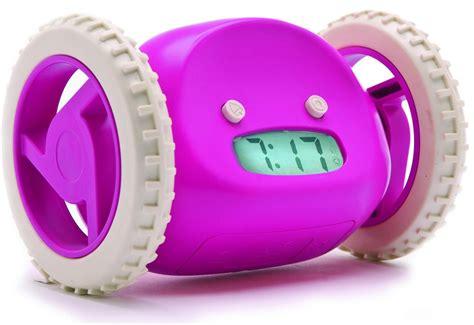 Alarm Wheels clocky alarm clock on wheels runaway clock raspberry pink blue by nanda home ebay
