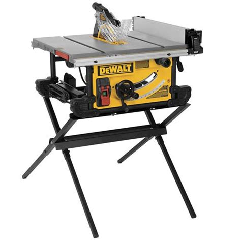 bench over the tops dewalt 15 amp 10 in job site table saw with scissor stand