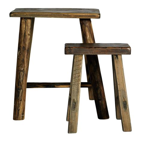 Occasional Thin Stools by Narrow Wooden Stools Set Of Two By Out There Interiors