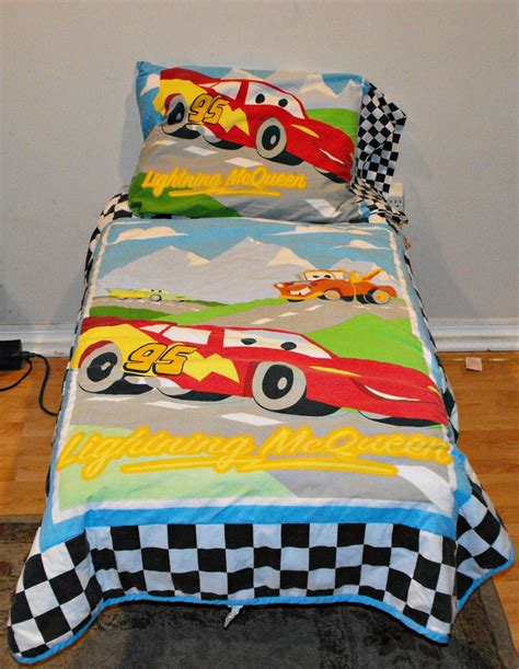 Disney Cars Crib Bedding by 8 Sold Disney Pixar Cars Checkered Flag Crib Toddler