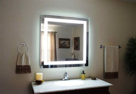 lighted bathroom wall mirror   bathroom styles home design decor idea