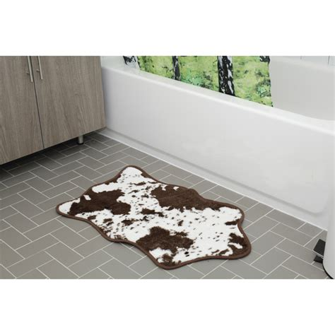cowhide bathroom rugs cowhide bath rug brown traditional gifts us zavvi com