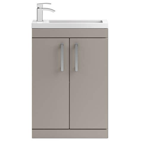 Grey Floor Standing L Vienna 600mm Floorstanding Vanity Unit Grey Finish
