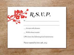 rsvp reply template gong xi printable wedding rsvp card
