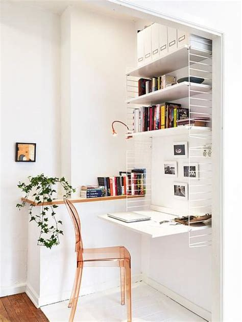 home workspace 22 space saving ideas for small home office storage