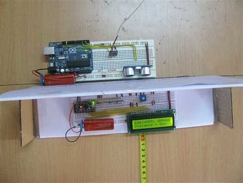 Engineer Garage by Wireless Distance Measurement Using Ultrasonic Sensor