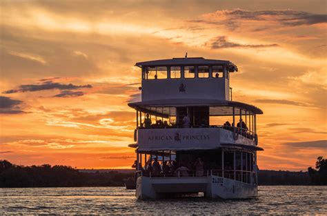 boat cruise zambia victoria falls sunset cruise african queen river cruises