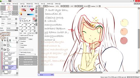Kolong Dapur Poni Tumpuk Bawah tutorial paint tool sai tutorial mewarnai anime di paint