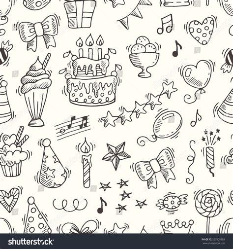 Stensil Stencil Motif Happy Birthday Bunga Dekorasi happy birthday seamless pattern vector background for your design 327905183
