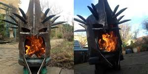 Cing Firepit A Pit That Looks Like The Witch King Of Angmar From Lord Of The Rings