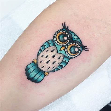 little owl tattoo owl for tattooedwarriortattoostudio