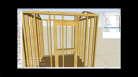shed wall layout  framing basics part  youtube