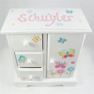 personalized jewelry box bright butterflies and flowers personalized musical jewelry box for nanycrafts