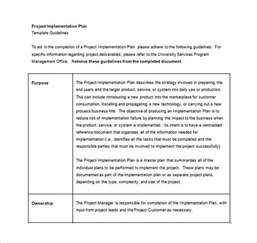 project implementation plan template 12 implementation plan templates free sle exle