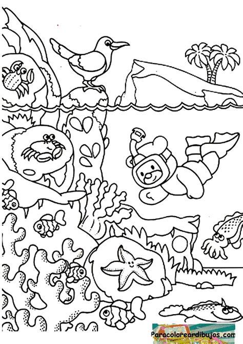 dibujos para colorear de animales del mar fondo del mar fondo marino pinterest mars and del mar