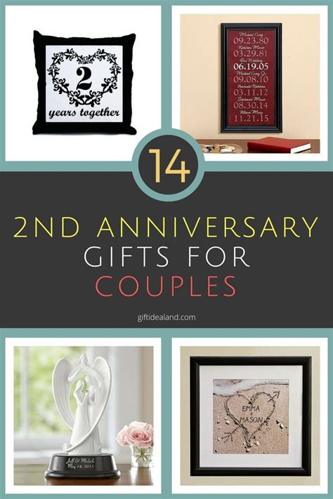 Wedding Anniversary Gifts For Couples by 14 Great 2nd Wedding Anniversary Gift Ideas For Couples