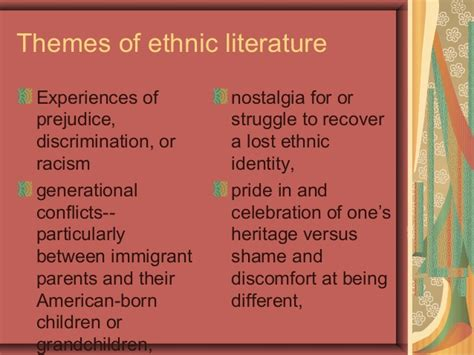 recurring themes in pride and prejudice what is ethnic literature