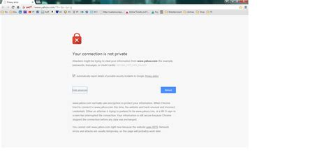 chrome error untrusted connection error on chrome and firefox when