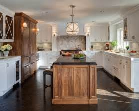 Kitchen Backsplash Ideas Houzz mixed wood cabinets houzz