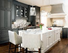 White And Grey Kitchen by Glamorous Grey Rooms My Home Rocks