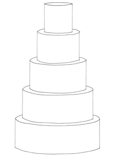 Wedding Cake Template by 5 Tier Cake Template Free Downloadable Cake