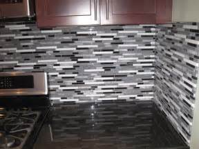 Decorative Kitchen Backsplash by Glass Backsplash Tile White Modern Brown Cabinet Gray