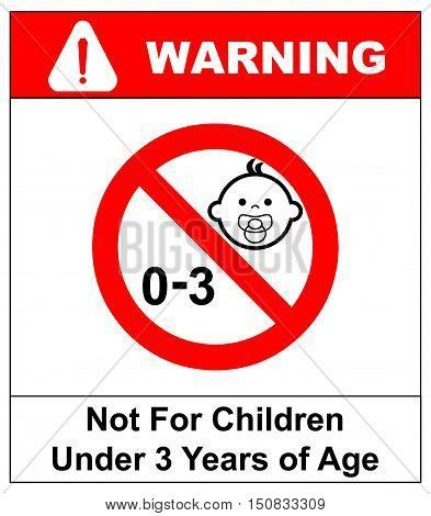 Stiker 0 3 Age Warning Sign prohibition sign children not vector photo bigstock