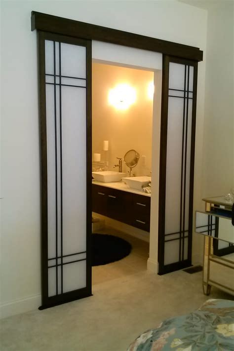 Shoji Sliding Doors by Bathroom Entry Sliding Shoji Doors Yelp