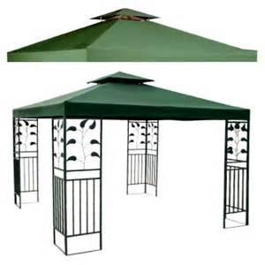 Patio Gazebo Replacement Covers 10 X 10 Replacement Canopy Top Green New Outdoor Gazebo 2 Teir Cover Patio New Ebay