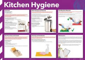 Handrail Safety Kitchen Hygiene Poster Photographic Seton Uk